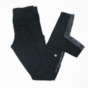 Lululemon Black Speed Tight Print Black Leggings 4